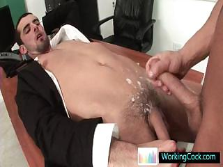 Jake getting his cute booty fucked hard by workingcock