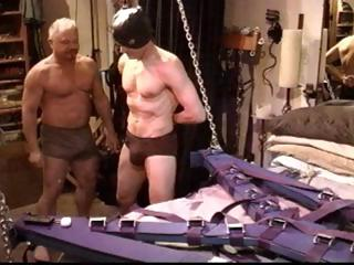 Gay serf acquires his pecker tortured and his balls busted by his master