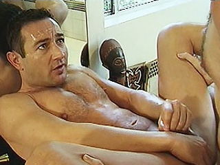 2 hard bodied gay bears Michael Vista and Lee Casey were hired to...