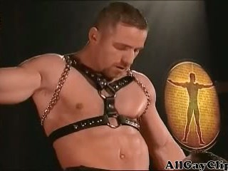 Gay Leather 3some
