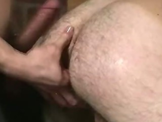Handcuffed hunk getting his tight ass drilled hard