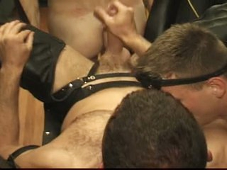 Homo guys have a fun sexy bdsm sex with a swing and toys