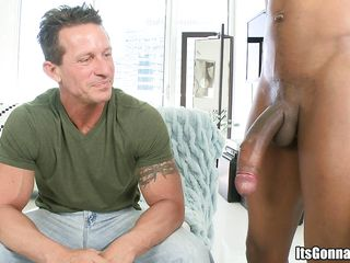 This athletic slutty fellow is willing to be screwed real hard in his constricted shaved ass, ridding it with enjoyment and lust. He first begins to engulf it wrapping his wet lips around it and trying to gulp it but it was just to large for his pretty tiny mouth. Then he rides it like a champion.
