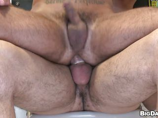 Look at those 2 love birds having an anal pleasure through this gloryhole. But in a short time they gathered in the same room and one fellow started to take the rod by riding it like a cowboy! As that guy getting his booty fucked by a rod in fuck-rubber that guy jerks his own large 10-Pounder likewise as well as the booty fucker started to do the same!