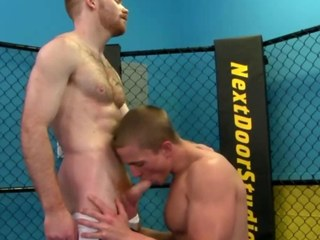 Homosexual wang works jocks rod during their work out