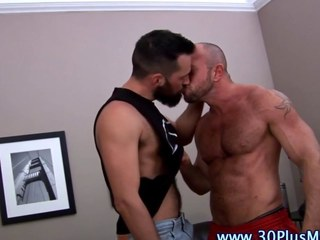 Hard cock bear munches on his fellows boner