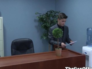 Gaysex boss spanks and copulates twink assistant