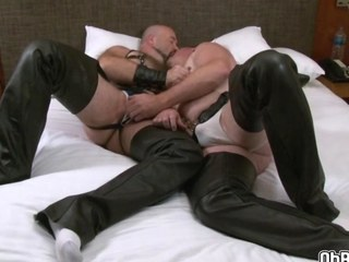 hunks are having too much enjoyment in daybed together